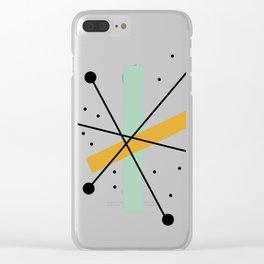 Retro Minimalist Mid Century Modern Pattern Design Clear iPhone Case