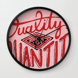 Quality/Quantity Wall Clock