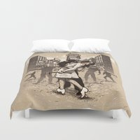 zombies Duvet Covers featuring Zombies by Ronan Lynam