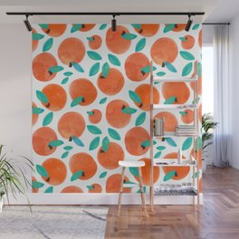 Coral Fruit #painting #pattern Wall Mural