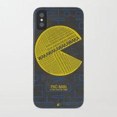 Pac-Man Typography iPhone X Slim Case