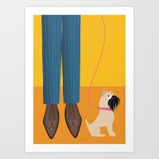 Wingtips and a Brussels Griffon for Handsome Devil Press Art Print