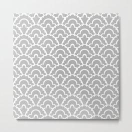 Fan Pattern Gray 115 Metal Print