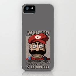Wanted plumber iPhone Case