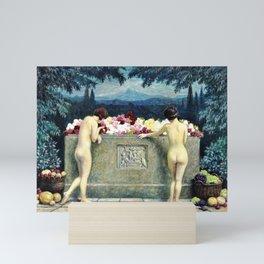 12,000pixel-500dpi - Paul Gustav Fischer - At The Sarcophagus - Digital Remastered Edition Mini Art Print