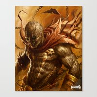 spawn Canvas Prints featuring Spawn by James Bousema