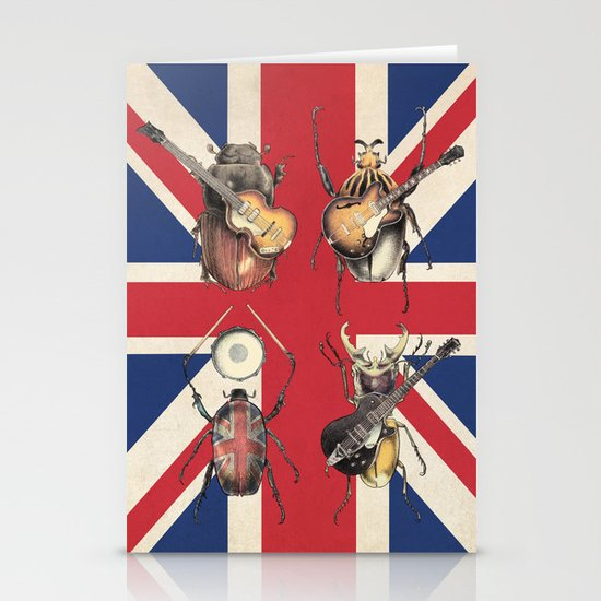 Meet the Beetles (Union Jack Option) Stationery Cards