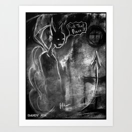 The Devil and the Church Art Print