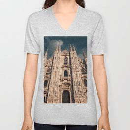 Milan Cathedral, Duomo di Milano, Gothic church, Lombardy, Milan photography Unisex V-Neck