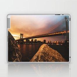 nyc skyline at dusk Laptop & iPad Skin