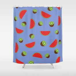Kiwi Watermelon Shower Curtain