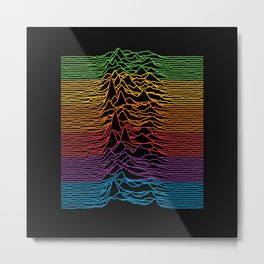 Unknown Pleasures Retro Apple Remix Metal Print