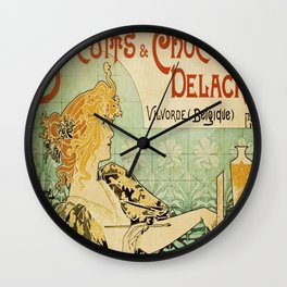 Vintage poster - Biscuits and Chocolat Delacre Wall Clock