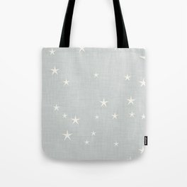 Grey star with fabric texture - narwhal collection Tote Bag