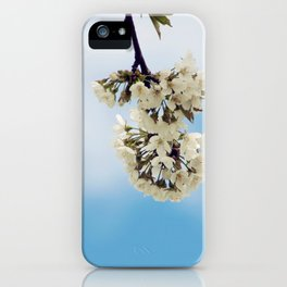 White & Blue iPhone Case