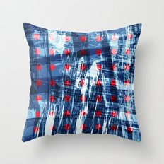 dots on blue ice Throw Pillow