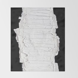 Black, White & White Throw Blanket