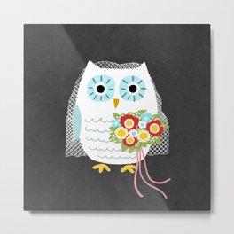 Owl Bride Metal Print
