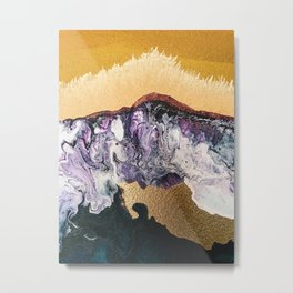 TIDAL WAVE | Abstract acrylic art by Natalie Burnett Art Metal Print