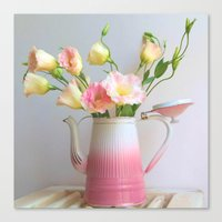 Canvas Prints featuring Coffee, Tea or Flowers by Brown Eyed Lady