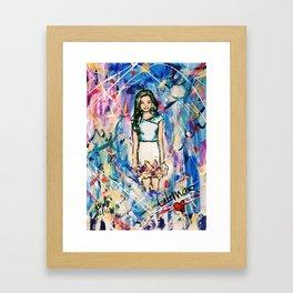 Nail Polish Painting of Lilimar Framed Art Print