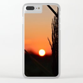 Through to the Setting Sun Clear iPhone Case