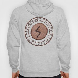 Sowilo Elder Futhark Rune Success, goals achieved, honor. The life-force, health, victory Hoody