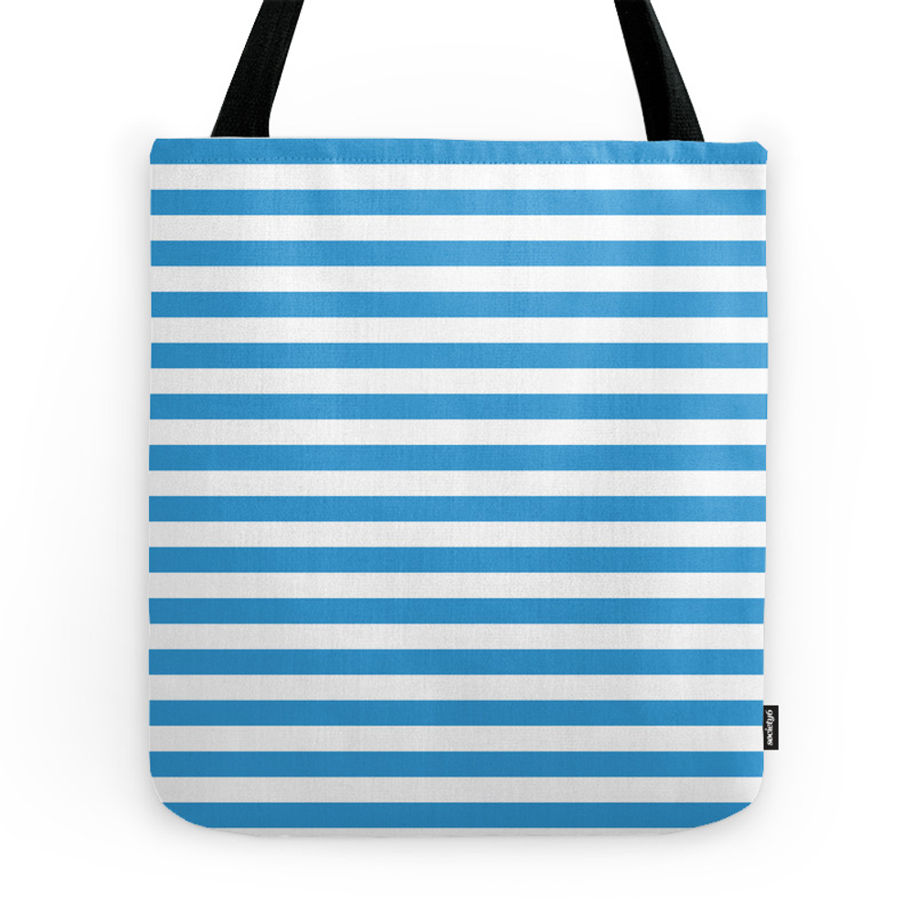 Blue , White , Striped Tote Purse by temas14mk (TBG7541613) photo