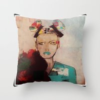 model Throw Pillows featuring model by Sw19Gallery