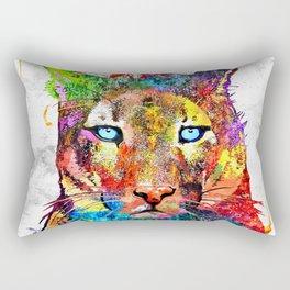 Puma Watercolor Grunge Rectangular Pillow