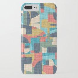crosshatch patchwork iPhone Case