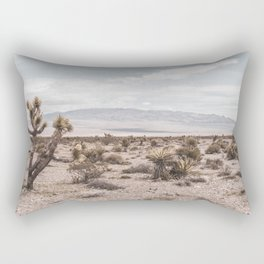 Vintage Desert Hombre // Cactus Cowboy Mojave Landscape Photograph Sunshine Hippie Mountain Decor Rectangular Pillow