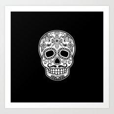 Mexican Skull - Black Edition Art Print