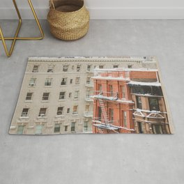 Upper West Side Snow Globe - NYC Photography Rug