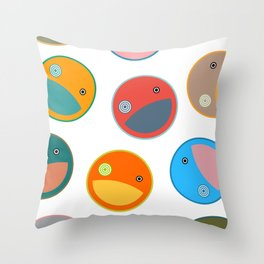 Utterly quackers  Throw Pillow