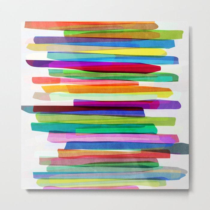 Colorful Stripes 1 Metal Print