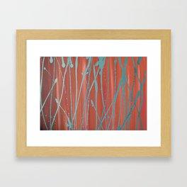 Orange and Silver Framed Art Print