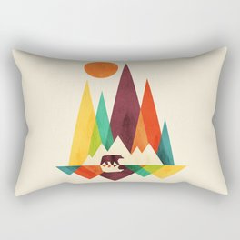 Bear In Whimsical Wild Rectangular Pillow