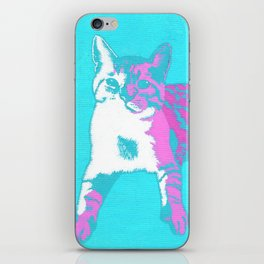 Two Toned Neon Cat iPhone Skin