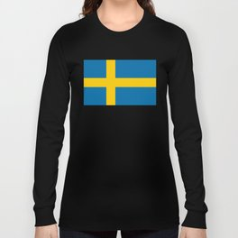 Flag of Sweden - Authentic (High Quality Image) Long Sleeve T-shirt