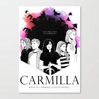carmilla Canvas Prints featuring Carmilla by Kimberley Fahey