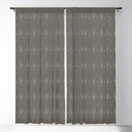 Art Deco in Gold & Grey Blackout Curtain