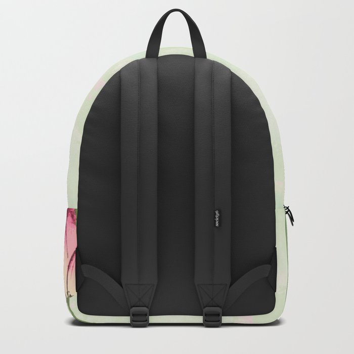 Survive like a lotus flower, rising from the muc Backpack