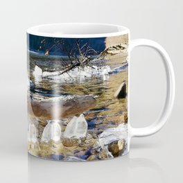 Natural ice sculptures of Squamish River Coffee Mug