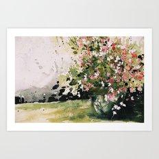 petites fleurs d'Espagne Art Print