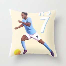 Sterling 7 - Football Throw Pillow