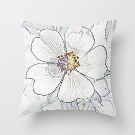 They call me the wild, wild rose Throw Pillow