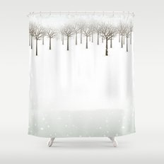 Winter Forest by Friztin Shower Curtain
