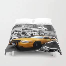 NYC Yellow Cabs Avenue - USA Duvet Cover