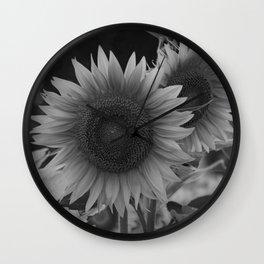 girasol (blanco y negro) Wall Clock